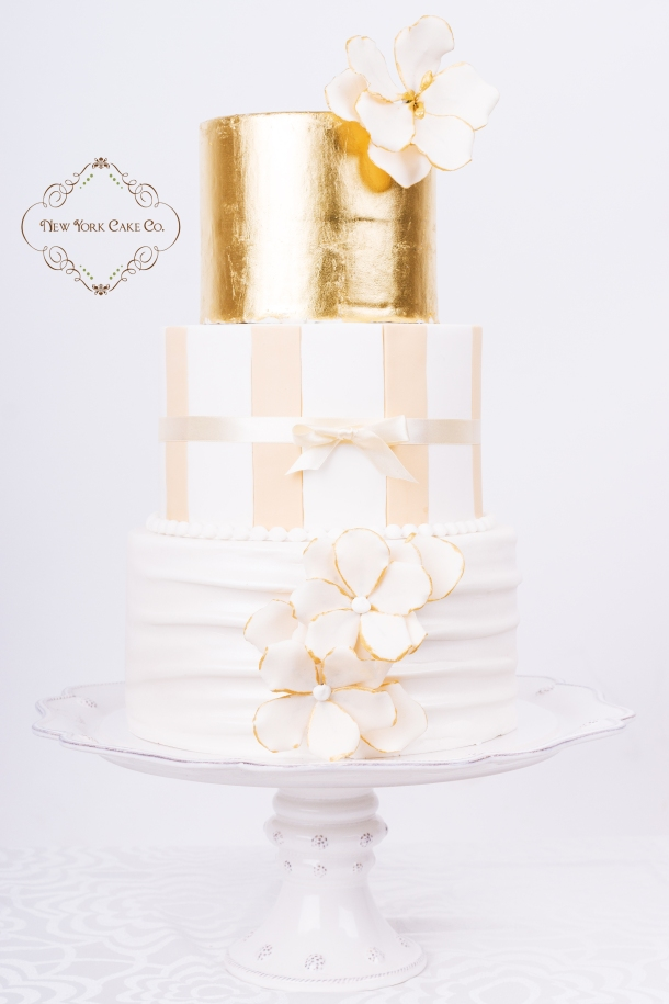 Gold and Cream  Luxe cake