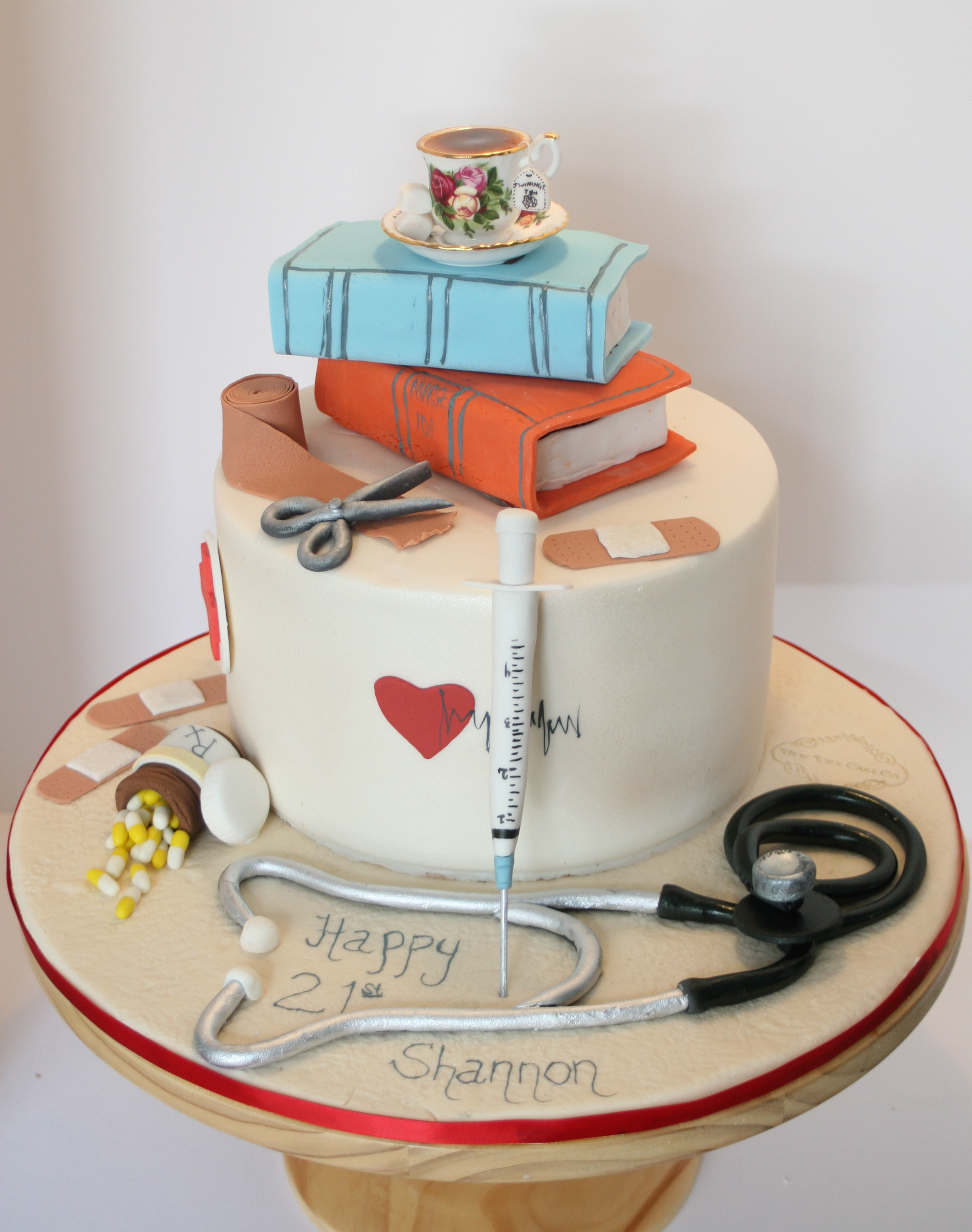 Cake Decorating Medical Theme : A Perfect Cake for a Student Nurse New York Cake Co.