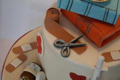 Studying Nurse Cake